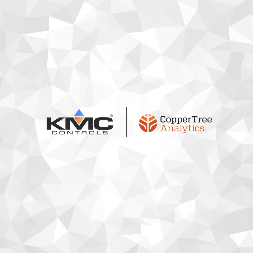 Logos for KMC Controls and CopperTree Analytics